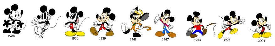 Mickey Though the Years by WaggonerCartoons on DevianArt